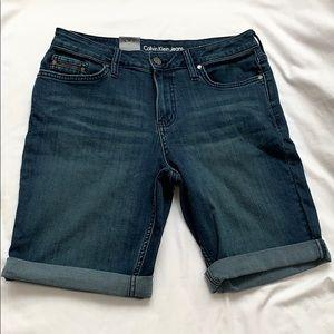 Calvin Klein City Inkwell Blue Jean Shorts NWT